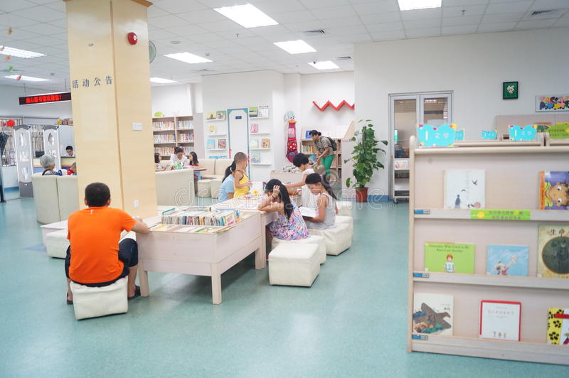 深圳,中国:儿童图书馆 库存照片