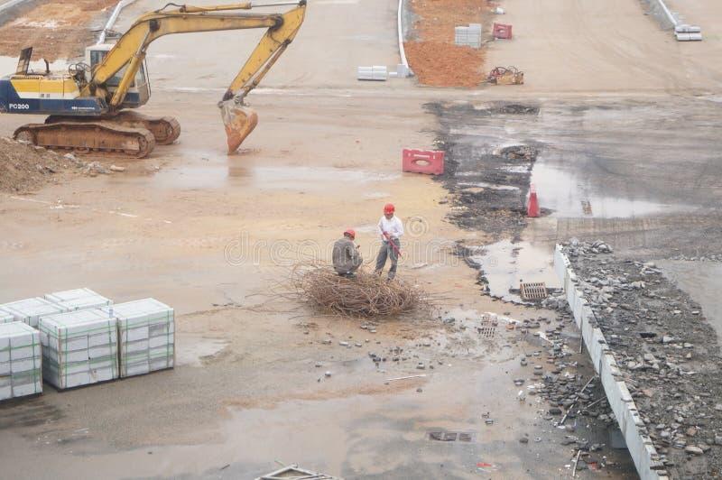 深圳,中国:南投风俗整修项目建造场所 免版税库存照片