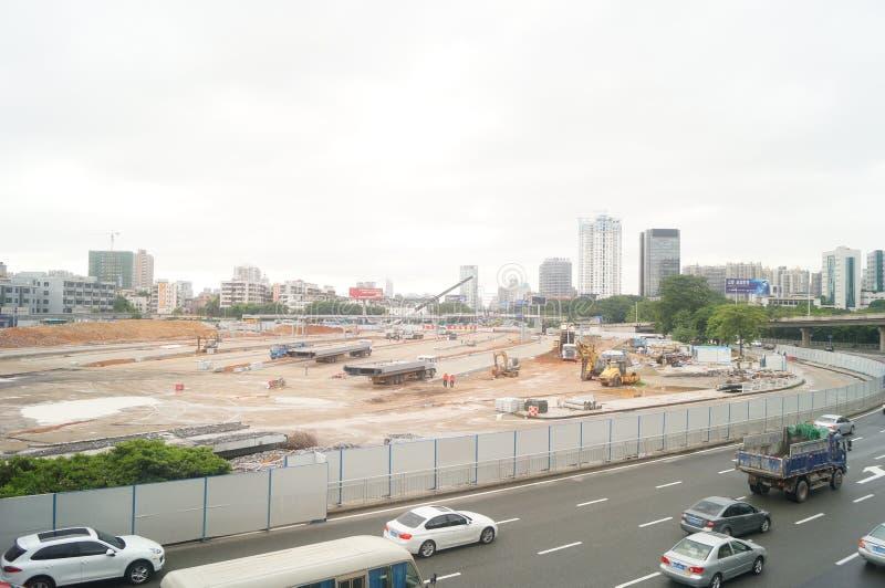 深圳,中国:南投风俗整修项目建造场所 图库摄影