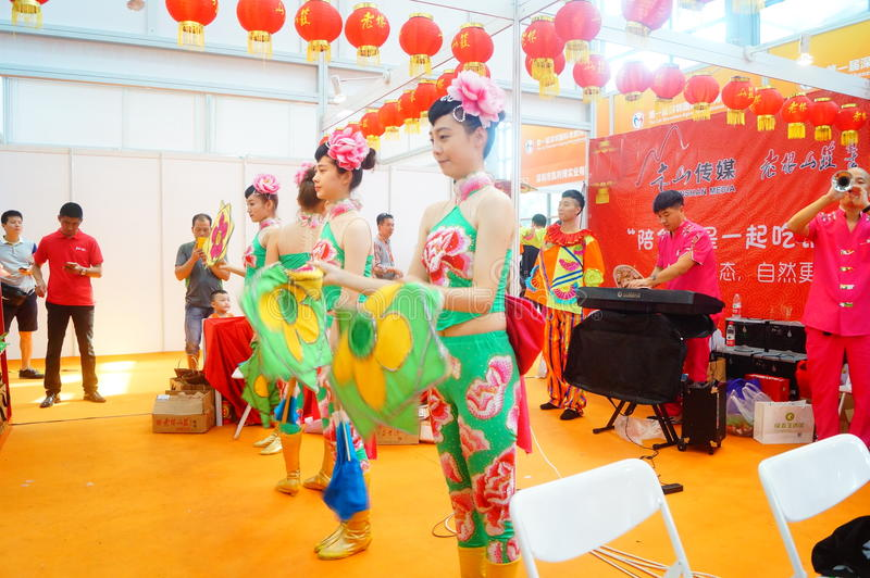 深圳,中国:女性演员 免版税库存图片