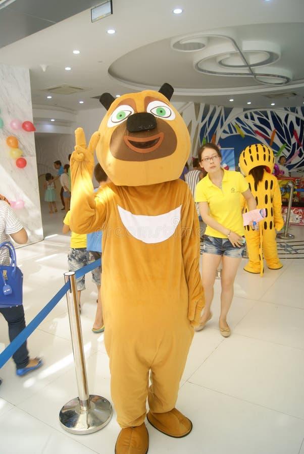 深圳,中国:装饰动物娱乐 免版税库存照片