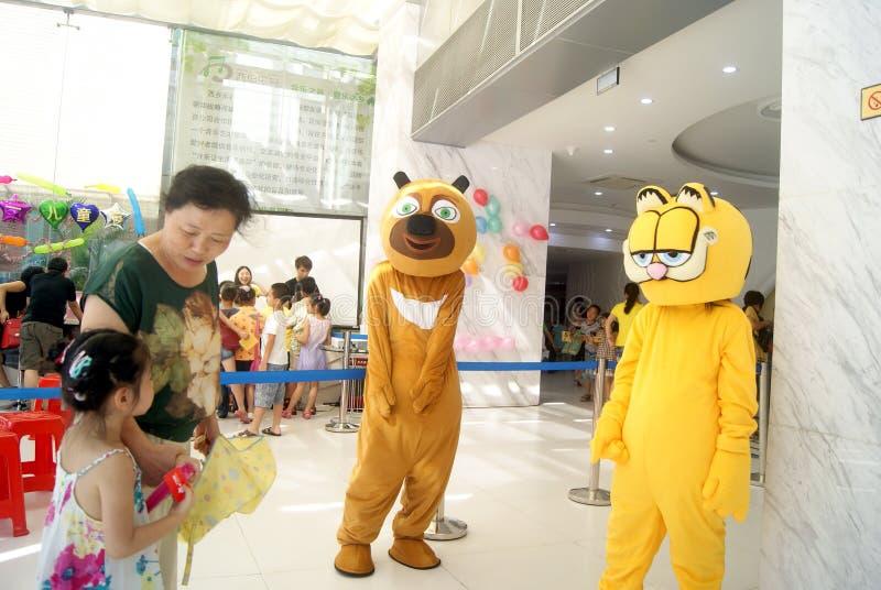 深圳,中国:装饰动物娱乐 库存图片