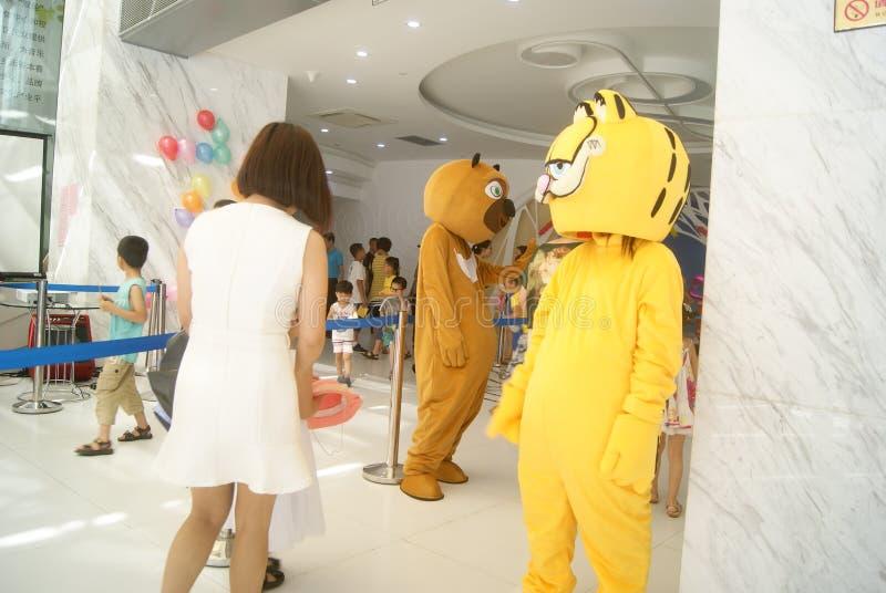 深圳,中国:装饰动物娱乐 免版税图库摄影