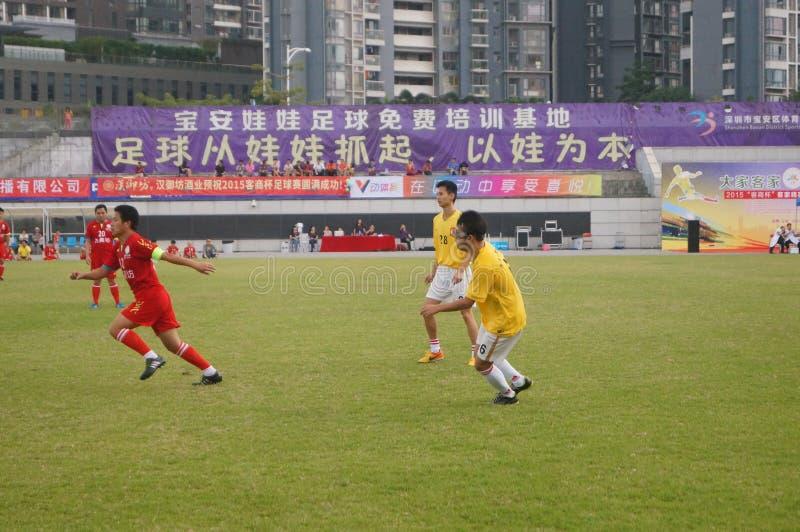 深圳,中国:足球比赛 免版税库存图片