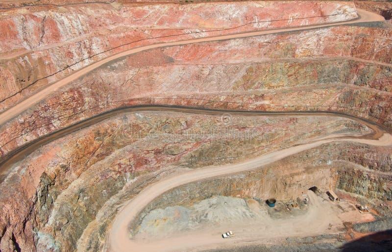 深坑最小值岩石地层 库存照片