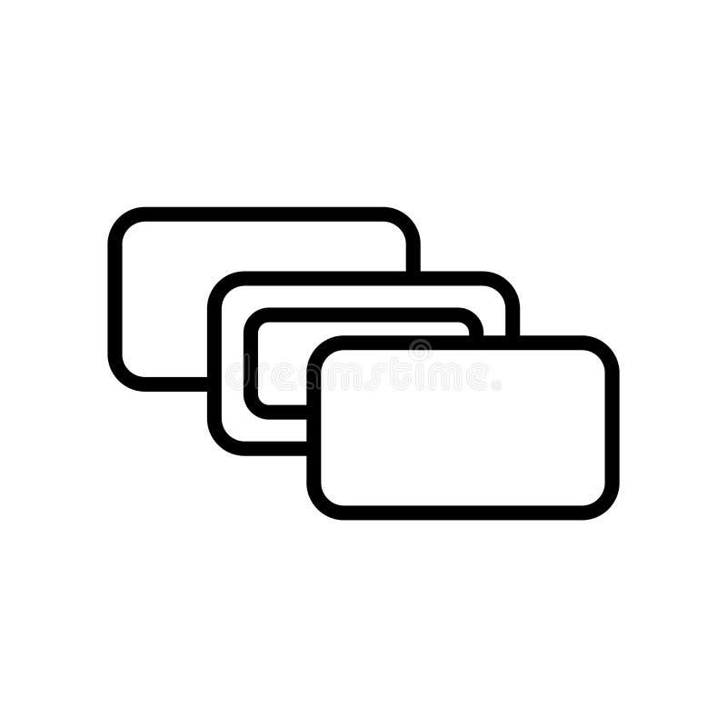 深度知觉在白色背景,深度知觉标志、线或者线性标志隔绝的象传染媒介,在概述的元素设计 库存例证
