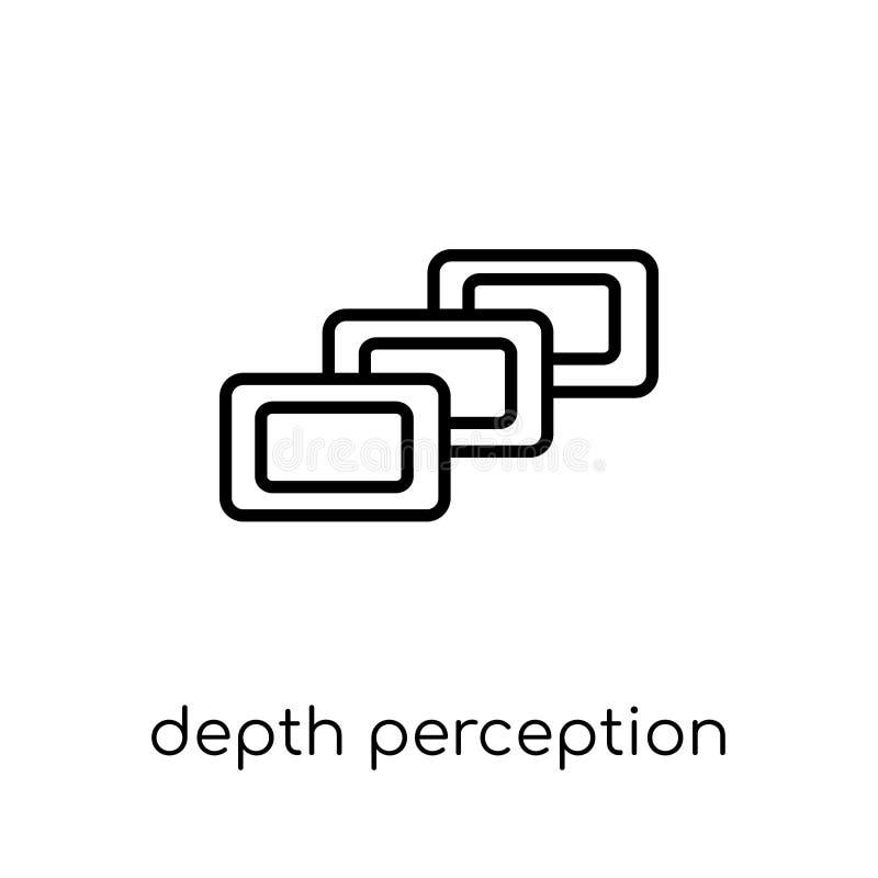 深度知觉象  向量例证