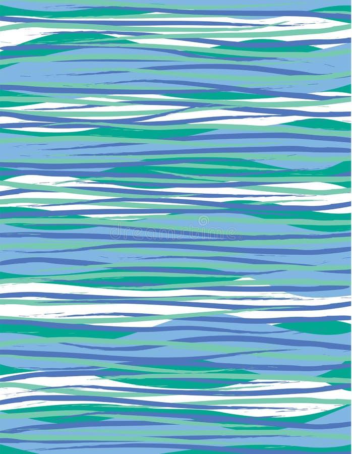 深数据条冲浪波浪 向量例证