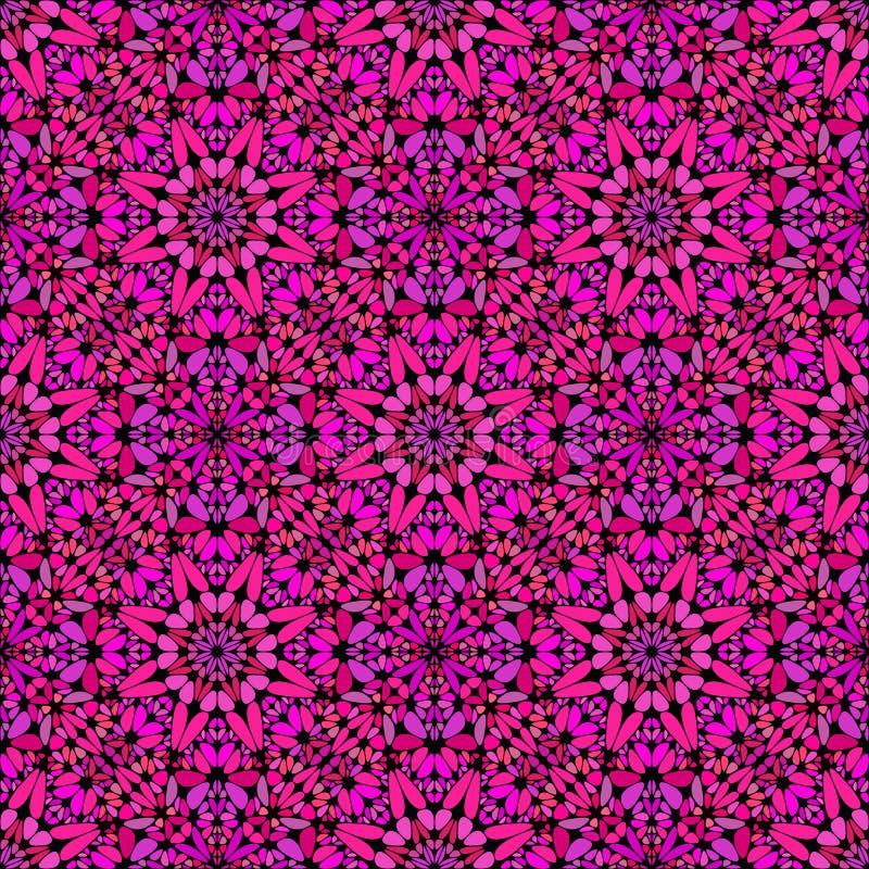 深桃红色的摘要几何玻璃马赛克瓣样式背景 库存例证