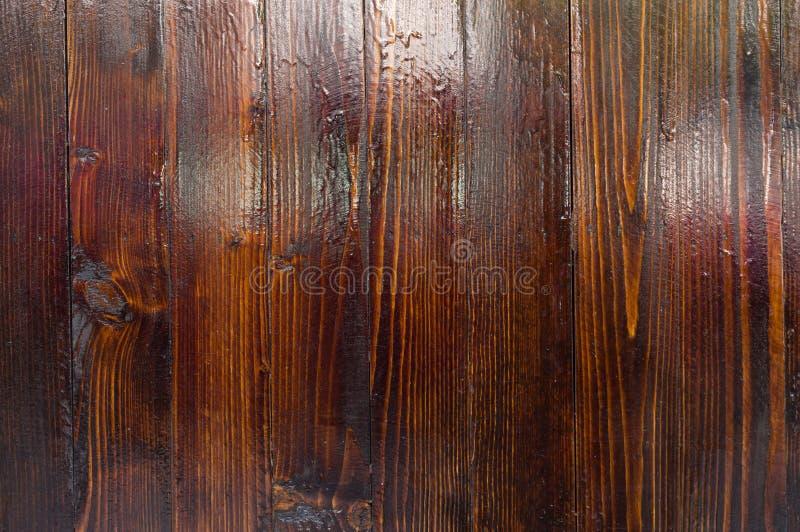 深棕色木质纹理背景 免版税库存图片