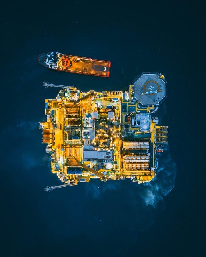 深海石油钻井平台 库存图片