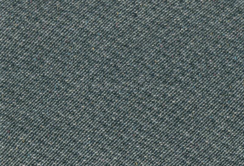 深海绿色花呢织品纹理详述了羊毛样式大详细的织地不很细水平的便装样式概略的纺织品背景 库存图片