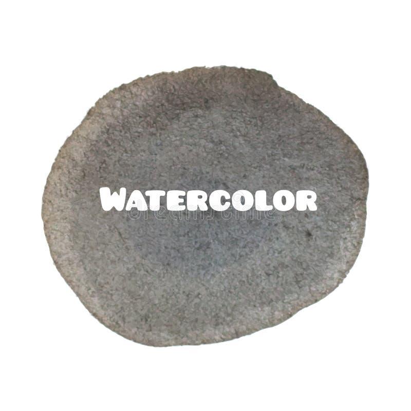 深灰斑点 抽象时髦的水彩背景 库存照片