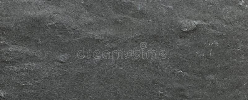 深灰矿石黑色板岩背景或纹理,黑暗的石背景,石纹理 免版税图库摄影
