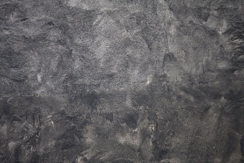 深灰膏药混凝土墙 图库摄影