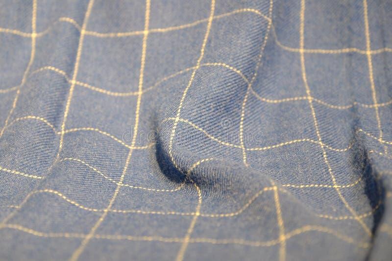 深灰被检查的围巾 有边缘的格子呢围巾皇家斯图尔特格子呢 冷的时间的辅助部件 图库摄影