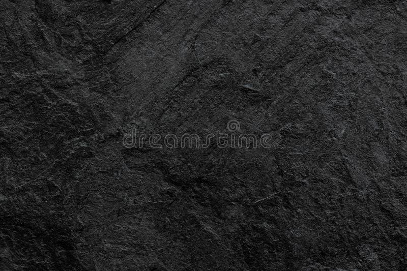深灰黑板岩背景或纹理 黑色石头 图库摄影