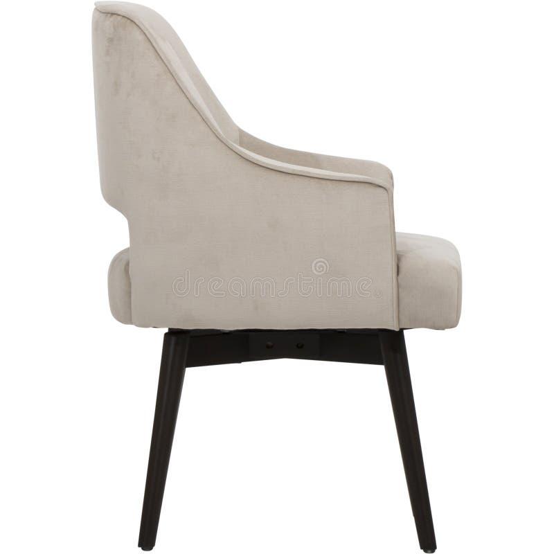 深灰-家具- Sunpan,用餐椅子-古色古香的黄铜的EIGHLAND -深灰法布里,与坐垫w的高凳 库存照片