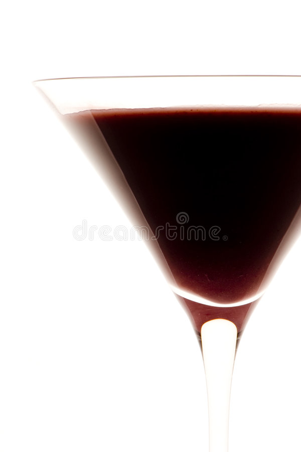 深红的鸡尾酒 免版税库存图片