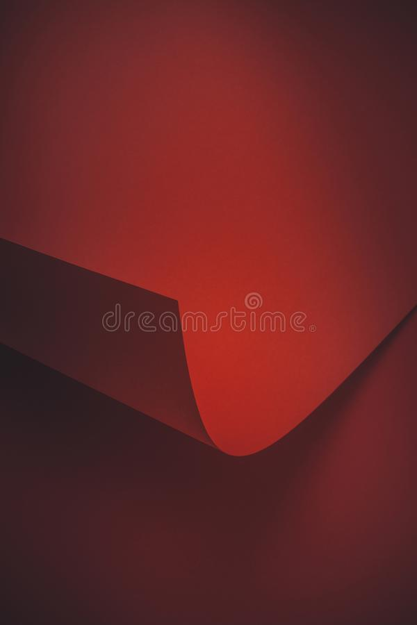 深红空的抽象纸背景 免版税库存图片