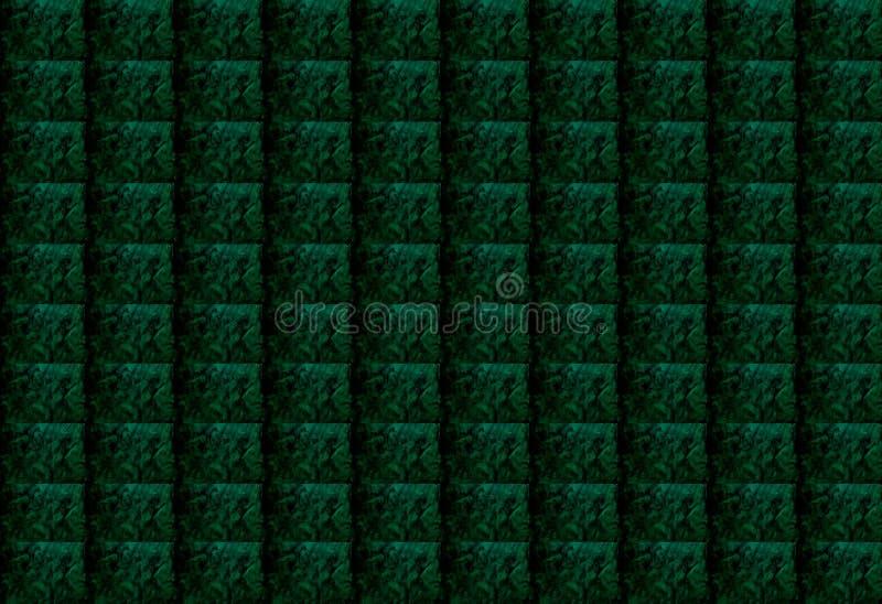 深绿摘要构造了长方形几何背景 设计可以为文章,打印,例证目的使用, 库存例证