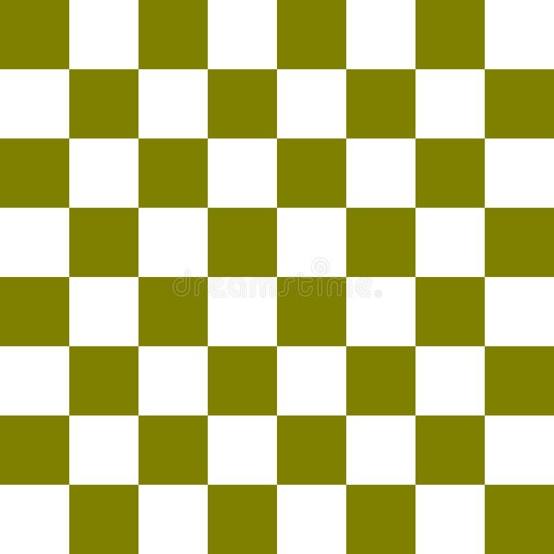 深绿棋盘传染媒介 库存例证