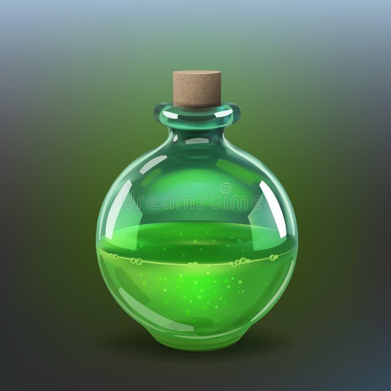 深绿色毒物 皇族释放例证