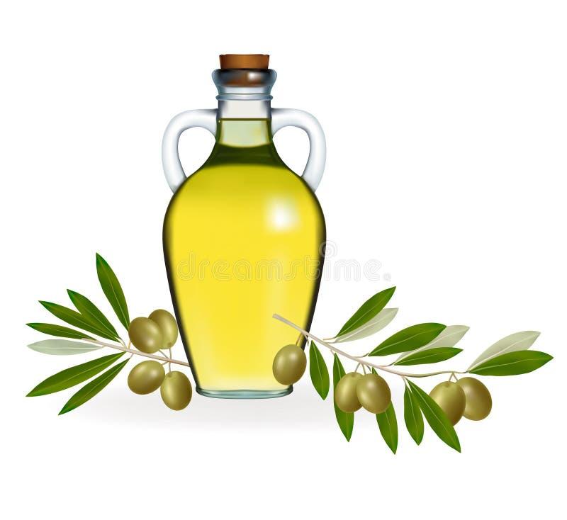 深绿色油橄榄橄榄 库存例证
