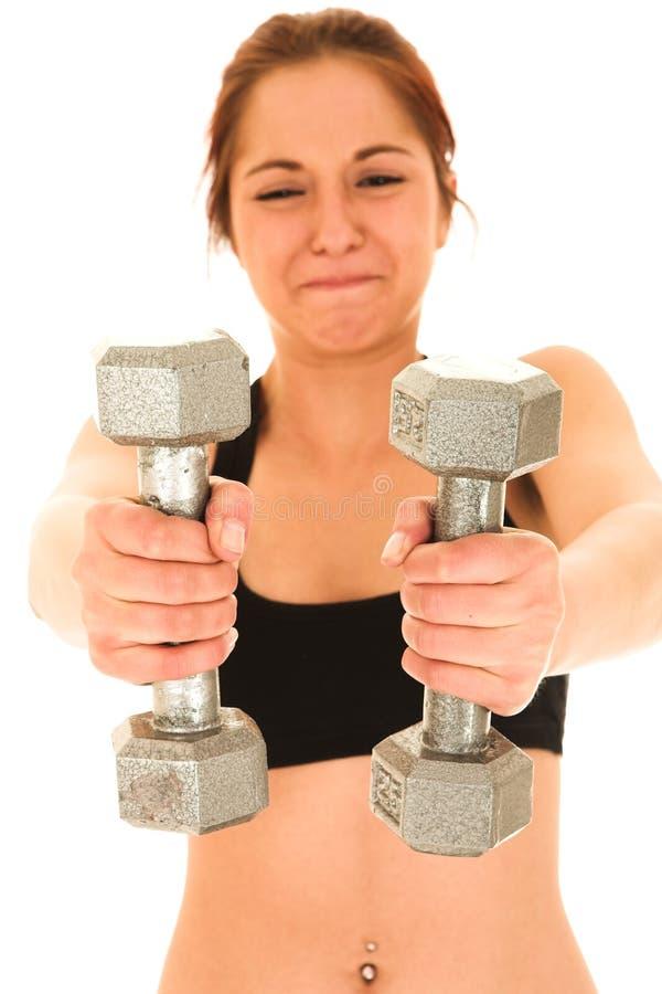 深色的健身性感的妇女 库存照片