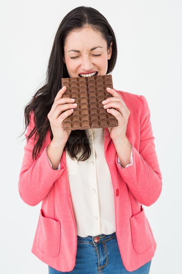 深色的尖酸的巧克力 免版税库存照片