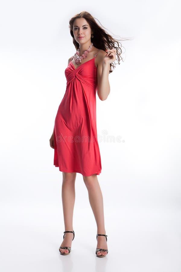 深色的礼服红色年轻人 库存照片