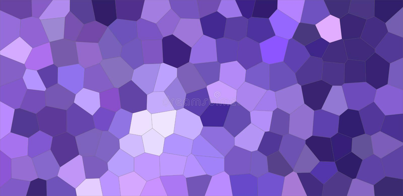 深蓝和紫色五颜六色的中间大小六角形背景例证 库存例证