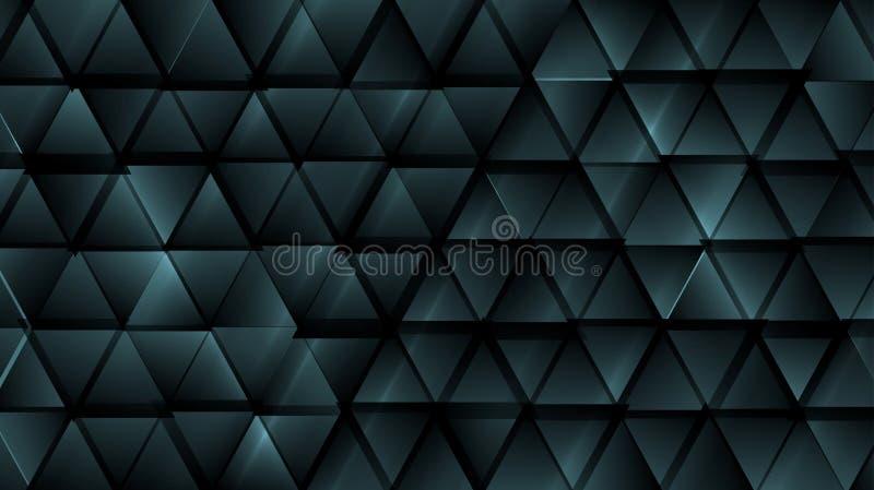 深蓝抽象技术三角背景 向量例证