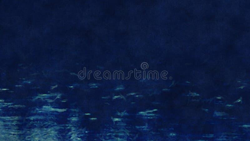 深蓝抽象的水绘 库存例证
