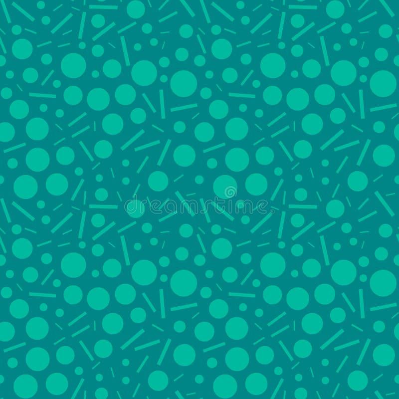 深蓝棍子和圈子在青绿色背景 向量例证