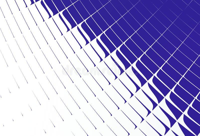 深蓝白色抽象分数维艺术 与部分或瓦片的简单的样式背景例证 专业图表模板 T 向量例证