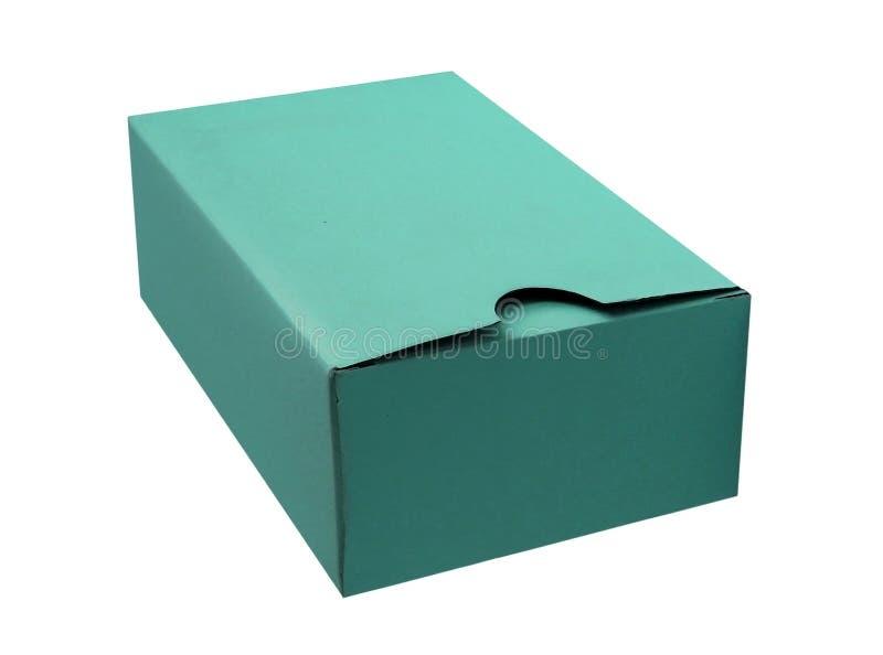 深蓝纸板箱 免版税库存图片
