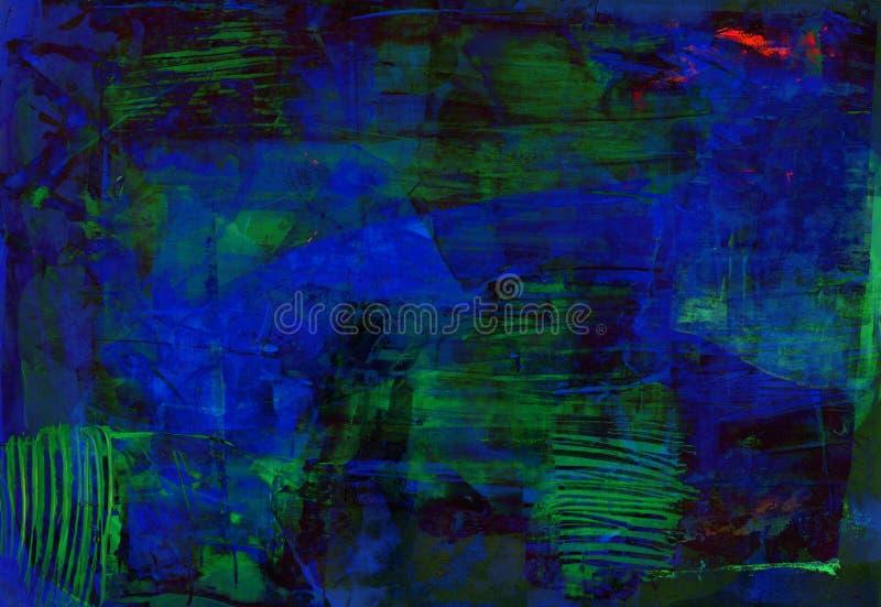 深蓝绿色抽象背景 免版税库存图片