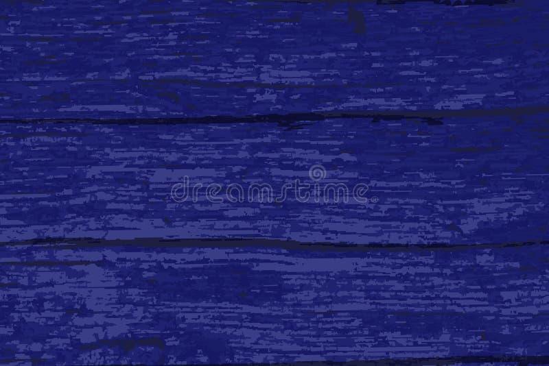 深蓝老木材背景 皇族释放例证