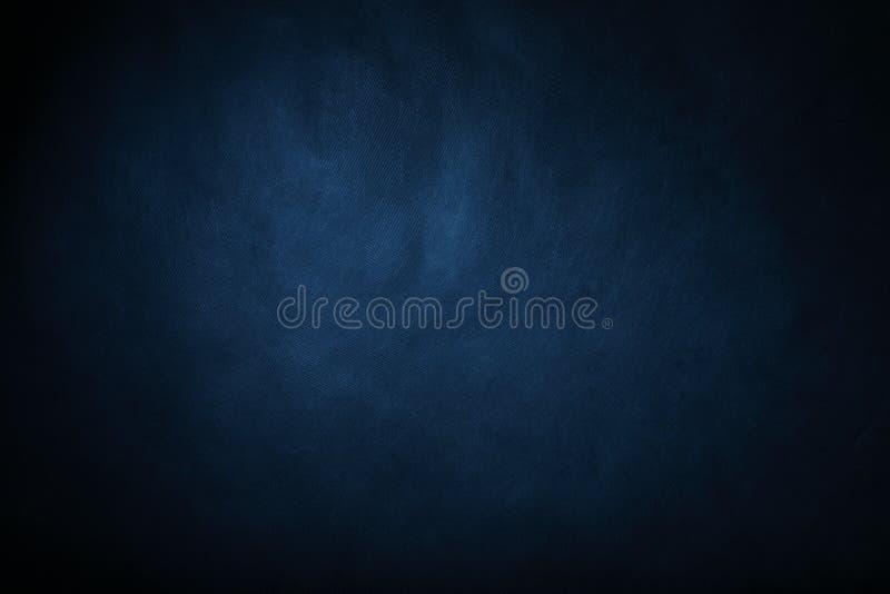 深蓝色抽象背景迷离梯度,摘要豪华灰色梯度 库存照片