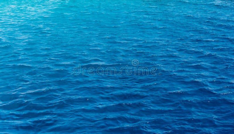 深蓝色海洋的背景纹理 免版税库存照片