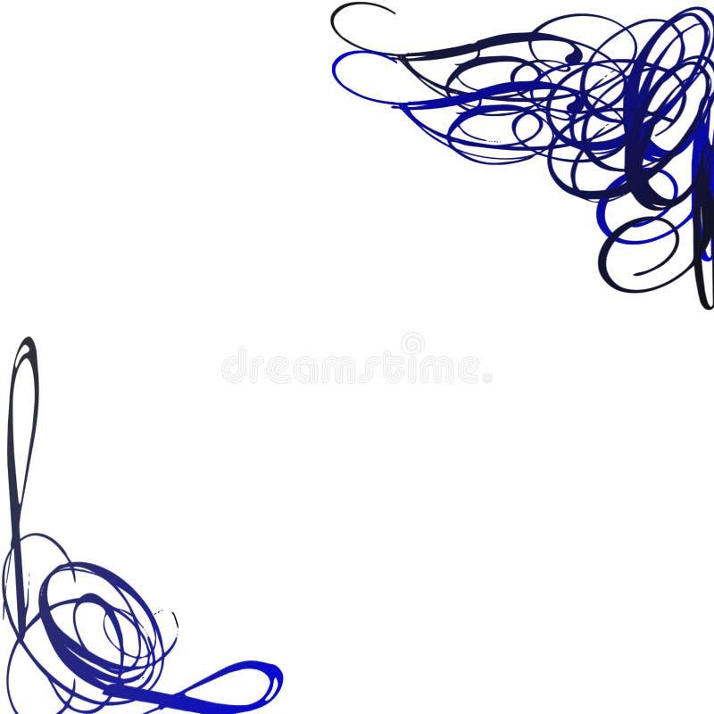 深蓝色漩涡 库存照片