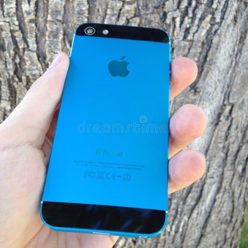 深蓝色iphone 库存图片