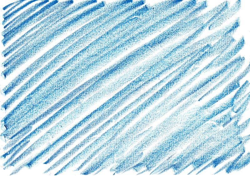深蓝蜡笔的背景,多用途 库存例证