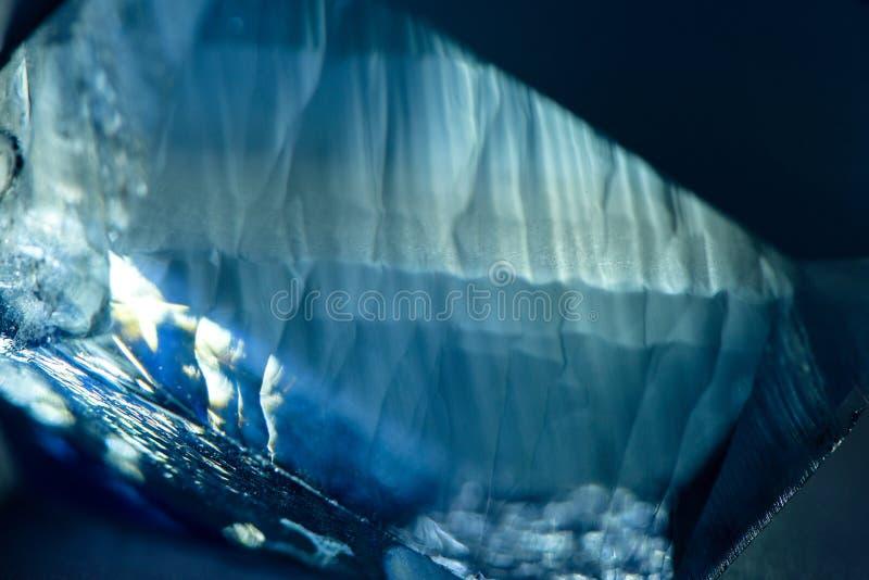 深蓝被弄脏的水晶纹理 库存图片