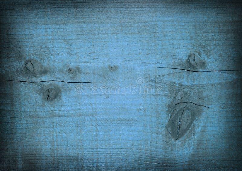 深蓝被抓的木板条 木纹理 库存照片