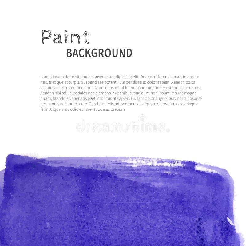 深蓝水彩油漆背景 库存例证