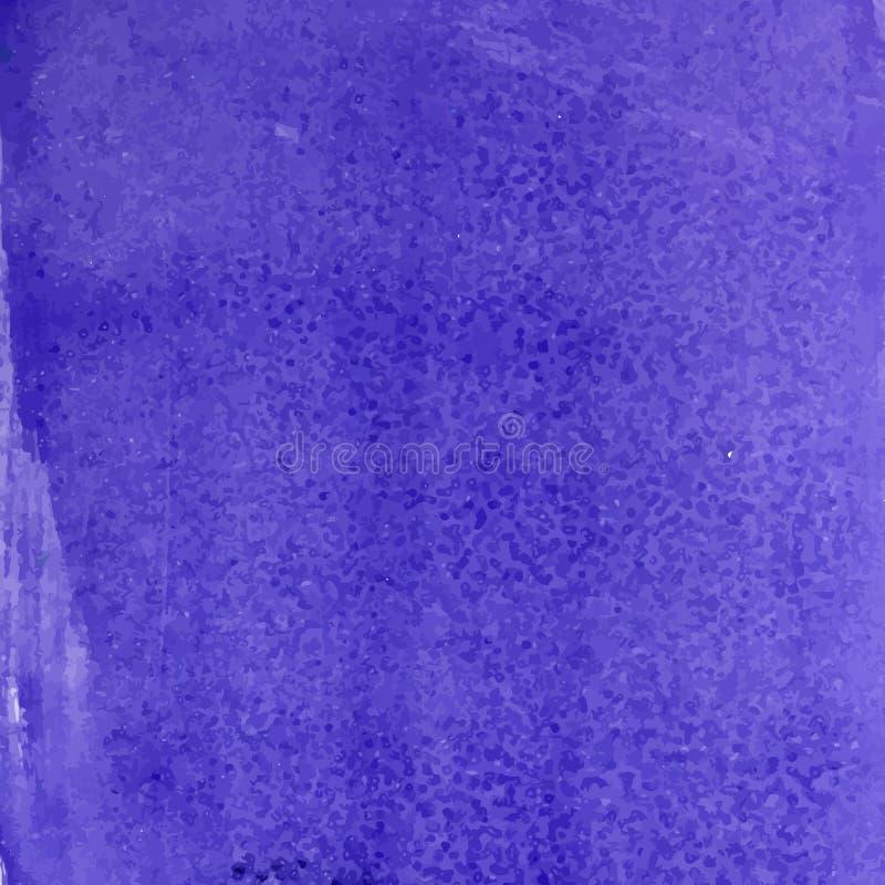 深蓝水彩纹理 库存例证