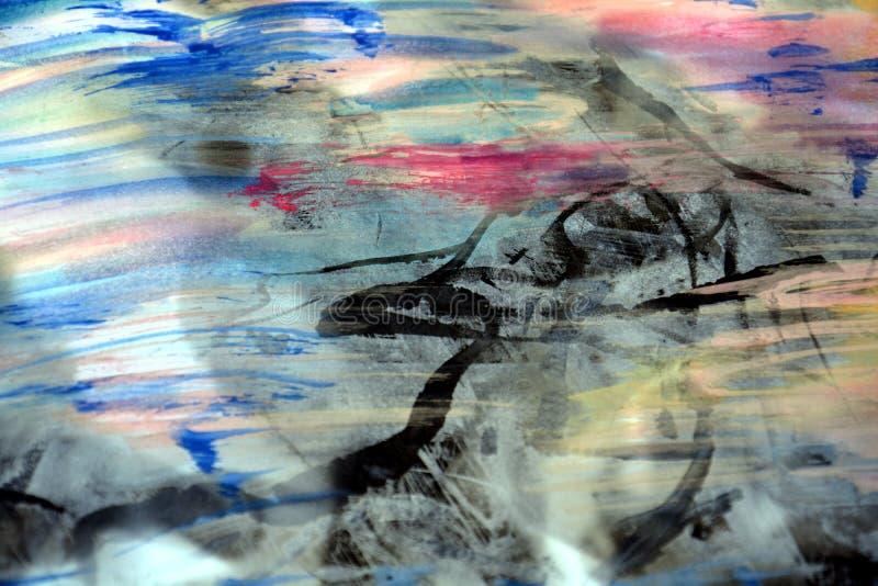 深蓝紫罗兰色绘画背景 库存照片