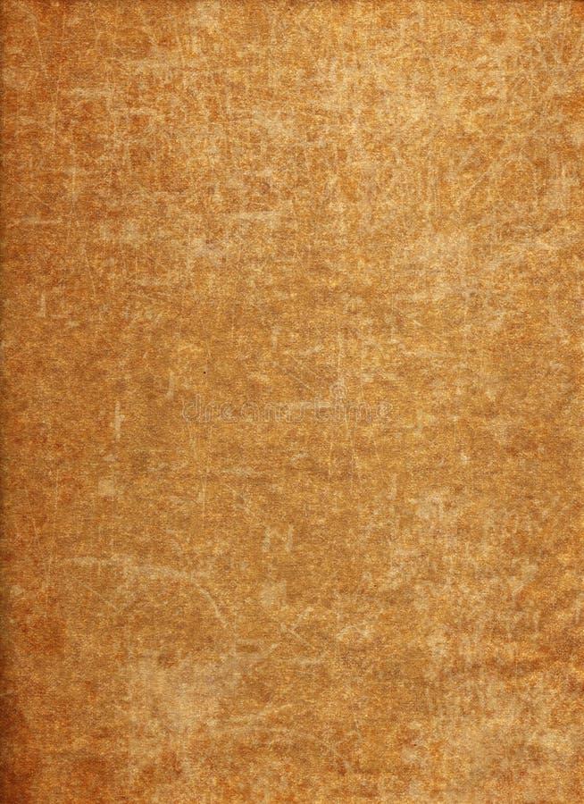 深黄Grunge纸纹理 免版税图库摄影